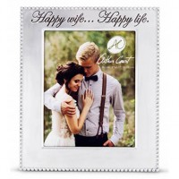 "Arthur Court Vertical Beaded ""Happy Wife...Happy Life"" Frame - 8 x 10"