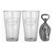 University of Florida Pub Glass & Bottle Opener Set
