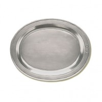 Match Pewter Oval Incised Tray - Medium