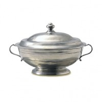Match Pewter Oval Tureen w/Lid