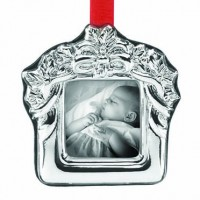 Reed & Barton Holiday Ribbon Sterling Silver Picture Frame Ornament - Ships August 2017