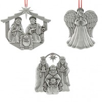 Reed & Barton Nativity in Creche Ornaments 2017 - Set of 3
