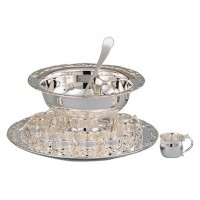 Romantica Silverplated Punch Bowl Set - 13 Piece