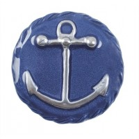 Mariposa Anchor Emblem Napkin Weight - Blue
