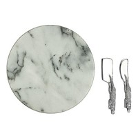 Arthur Court Alligator Marble Cheese Set