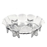 "Arthur Court Butterfly Stand w/16"" Acrylic Bowl"