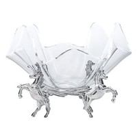 Arthur Court Horse Stand w/14 Inch Acrylic Bowl