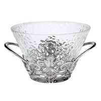 Arthur Court Fleur-De-Lis Punch Bowl/Ice Tub
