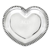 Arthur Court Engravable Beaded Heart Tray