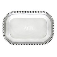 Arthur Court Engravable Beaded Catch-All Tray