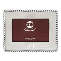 Arthur Court Engravable Beaded Picture Frame - 4 x 6