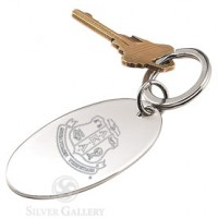 AKA Oval Key Chain - Nickelplate