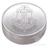 AKA Round Jewelry Box - Silverplate