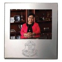 Personalized Silverplate Silhouette Frame - 4 x 6