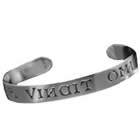 Love Conquers All - Sterling Silver Cuff Bracelet