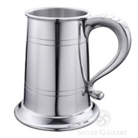 Boardman Pewter Glass Bottom Tankard