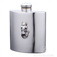 Boardman Horsehead Pewter Flask