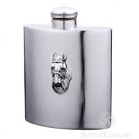 Boardman Horsehead Pewter Flask