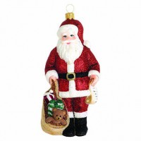 Reed & Barton Classic Christmas Santa with Toys Ornament
