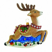 Reed & Barton Classic Christmas Reindeer Ornament