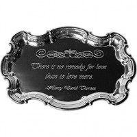 Salisbury Pewter Chippendale Tray w/Love Quote