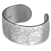 Salisbury Pewter Flower/Month Bracelet - January Carnation