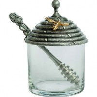 Salisbury Pewter Honey Pot w/Stirrer