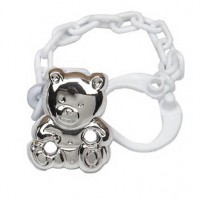 Cunill Sterling Silver Little Bear Pacifier Clip