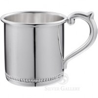 Cunill Beaded Sterling Baby Cup