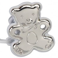 Cunill Sterling Silver Teddy Bear Pacifier Clip