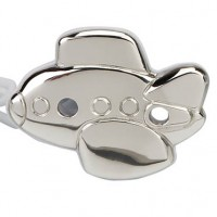 Cunill Sterling Silver Airplane Pacifier Clip