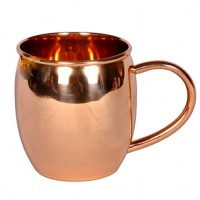 Moscow Mule Barrel Shaped Pure Copper Mug - Available from SilverGallery.com