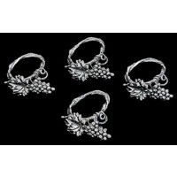 Arthur Court Grape Napkin Rings - Set of 4