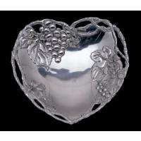 Arthur Court Grape Heart Coupe Bowl