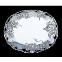 Arthur Court Grape Oval Serving Tray