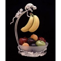Arthur Court Monkey Banana Holder with Bowl