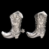 Arthur Court Cowboy Boot Salt and Pepper Set