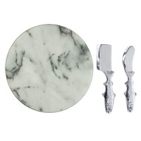 Arthur Court Trout Marble Cheese Set - 12