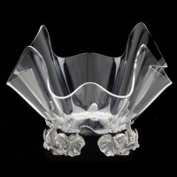 "Arthur Court Elephant Stand with 14"" Acrylic Bowl"