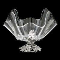 "Arthur Court Grapevine Stand with 11"" Acrylic Bowl"