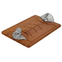 Arthur Court Turkey Bamboo Carving Board