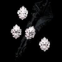 Arthur Court Fleur-De-Lis Napkin Rings