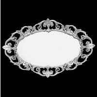 Arthur Court Fleur-De-Lis Oval Serving Tray
