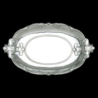 Arthur Court Fleur de Lis Oval Tray
