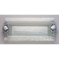 Arthur Court Shell/Sealife Glass Oblong Tray