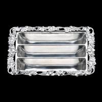 Arthur Court Grape Flatware Caddy/Divided Platter