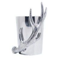 Arthur Court Antler Bottle Holder/Utensil Crock