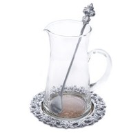 Arthur Court Fleur De Lis Beverage Pitcher Set