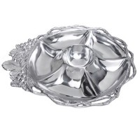 Arthur Court Grape Open Vine Round 5-Section Tray