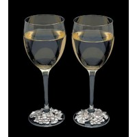 Arthur Court Grape Wreath Wine Glass